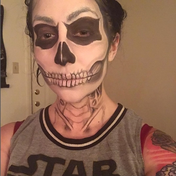 Picture of Chelsea's skull makeup'